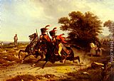 Hippolyte Bellange Hussards Escortant Napoleon painting
