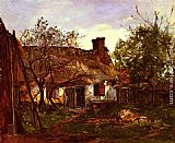 Hippolyte Camille Delpy La Chaumiere A Berneval painting