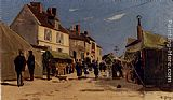 Hippolyte Camille Delpy Rue Pavoisee A Dieppe painting