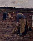 Hippolyte Camille Delpy The Potato Gatherers painting