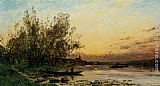Hippolyte Camille Delpy Twilight painting