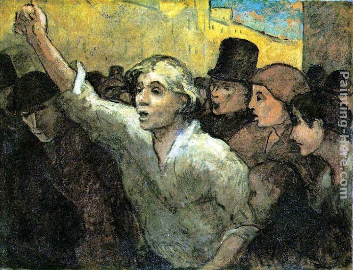 Honore Daumier The Uprising