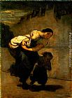 Honore Daumier Burden painting