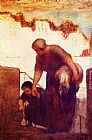 Honore Daumier The Laundress painting