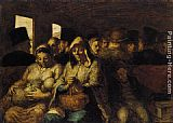 Honore Daumier The Third-class Carriage painting