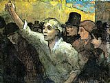 Honore Daumier The Uprising painting