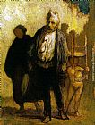 Honore Daumier Wandering Saltimbanques painting