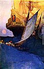 Howard Pyle Attack on a Galleon painting