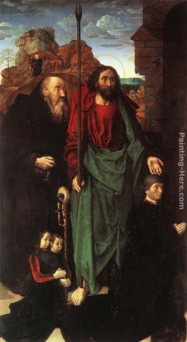 Hugo van der Goes Sts. Anthony and Thomas with Tommaso Portinari