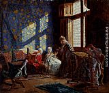 Ignacio Leon y Escosura The Embroiderers painting
