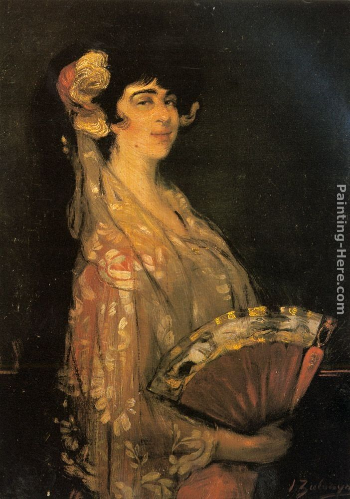 Ignacio Zuloaga y Zabaleta An Elegant Lady Fanning Herself