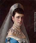 Ivan Nikolaevich Kramskoy Portrait of Empress Maria Fyodorovna in a Head-Dress Decorated with Pearls painting