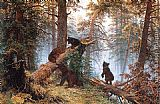 Ivan Shishkin Morning in the Pine-tree Forest painting