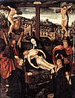 Jacob Cornelisz Van Oostsanen Crucifixion with Donors and Saints painting