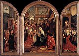 Jacob Cornelisz Van Oostsanen Triptych of the Adoration of the Magi painting