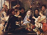 Jacob Jordaens The Bean King painting