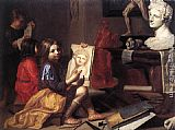 Jacob van Oost the Elder The Artist's Studio painting