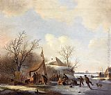Jacobus Van Der Stok Figures on the Ice painting