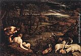 Jacopo Bassano Garden of Eden painting