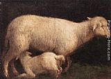 Jacopo Bassano Sheep and Lamb painting