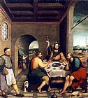 Jacopo Bassano Supper at Emmaus painting