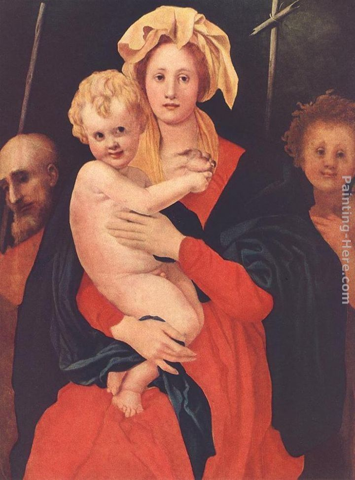 Jacopo Pontormo Madonna and Child with the Young St John