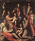 Jacopo Pontormo Madonna and Child with Saints painting