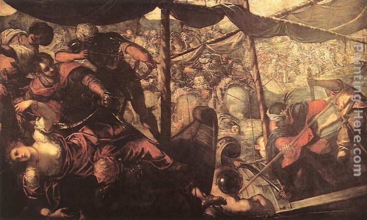 Jacopo Robusti Tintoretto Battle between Turks and Christians