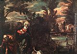 Jacopo Robusti Tintoretto Flight into Egypt painting