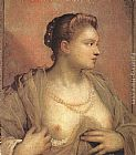 Jacopo Robusti Tintoretto Portrait of a Woman Revealing her Breasts painting