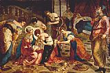 Jacopo Robusti Tintoretto The birth of St. John the Baptist painting