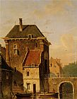 Jacques Carabain A Canal In Ghent painting