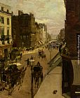 Jacques Emile Blanche A Street Scene in London painting