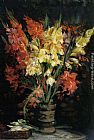 Jacques Emile Blanche Gladioli painting