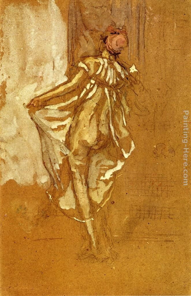 James Abbott McNeill Whistler A Dancing Woman in a Pink Robe, Seen from the Back