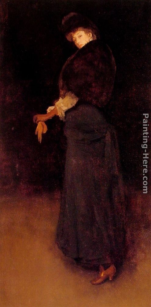 James Abbott McNeill Whistler Arrangement in Black The Lady in the Yellow Buskin - Portrait of Lady Archibald Campbell