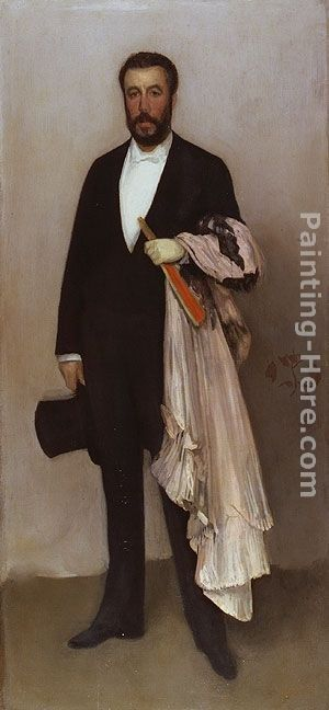 James Abbott McNeill Whistler Arrangement in Flesh Colour and Black Portrait of Theodore Duret