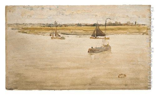 James Abbott McNeill Whistler Gold and Brown Dordrecht