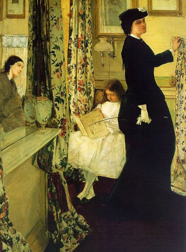 James Abbott McNeill Whistler Harmony in Green and Rose The Music Room