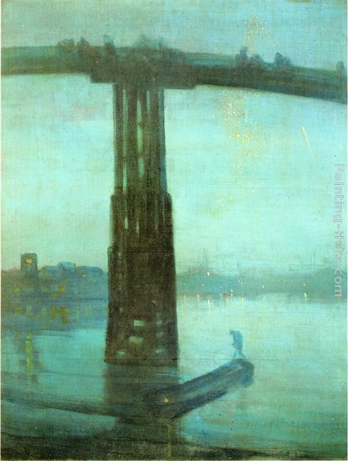James Abbott McNeill Whistler Nocturne Blue and Gold - Old Battersea Bridge
