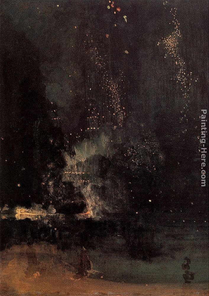 James Abbott McNeill Whistler Nocturne in Black and Gold The Falling Rocket
