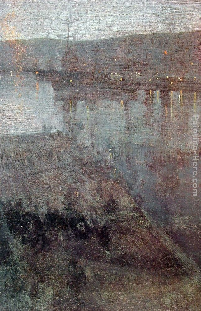 James Abbott McNeill Whistler Nocturne in Blue and Gold Valparaiso Bay