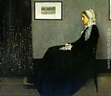 James Abbott McNeill Whistler Arrangement in Grey and Black Portrait of the Painter's Mother painting