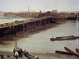 James Abbott McNeill Whistler Brown and Silver Old Battersea Bridge painting