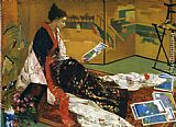 James Abbott McNeill Whistler Caprice in Purple and Gold The Golden Screen painting