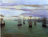 James Abbott McNeill Whistler Crepuscule in Flesh Colour and Green Valparaiso painting