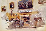 James Abbott McNeill Whistler Moreby Hall painting