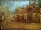 James Abbott McNeill Whistler Nocturne Blue and Gold - St Mark's, Venice painting