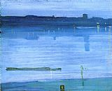 James Abbott McNeill Whistler Nocturne Blue and Silver - Chelsea painting