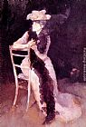 James Abbott McNeill Whistler Rose and Silver Portrait of Mrs Whibley painting